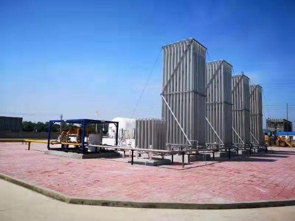 河南信阳100立方LNG热博rb88官网+4000立方汽化器项目